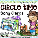 Spring Songs, Nursery Rhymes and Fingerplay Cards - Set 5