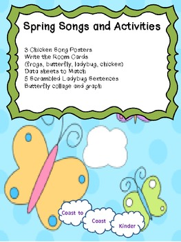 Spring Songs and Activities with Butterflies, Ladybugs, an