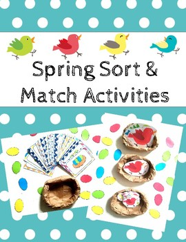 Spring Sort & Match Activities
