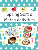 Spring Sort & Match Activities