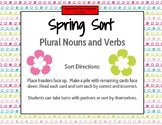 Spring Sort Plural Nouns and Verbs