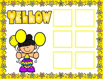 Sorting Colors Learning Mats