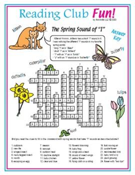 Spring Sound of 'I' (Phonics) Crossword Puzzle