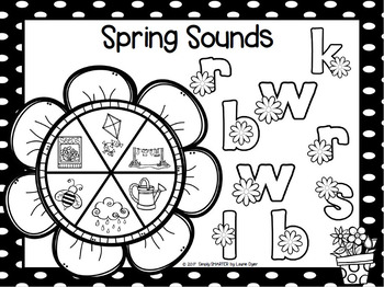 Spring Sounds:  NO PREP Beginning Sounds Game