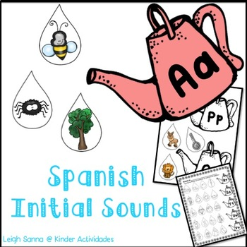 Spanish Initial Sounds Center (Sonidos iniciales)