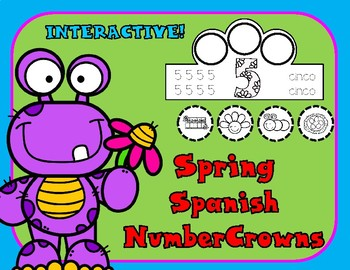 Spring Spanish Number Crowns
