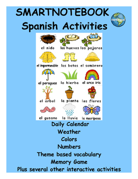 Spring Spanish SmartNotebook activities