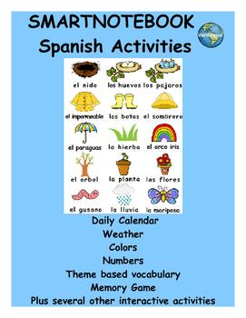 Spring Spanish SmartNotebook activities