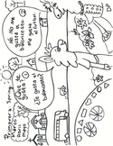 Spring Spanish listening speaking & coloring worksheet