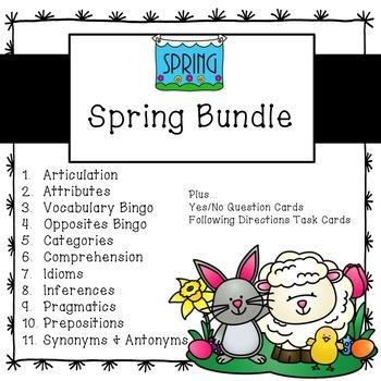 Spring Speech Bundle