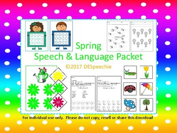 Spring Speech & Language Packet