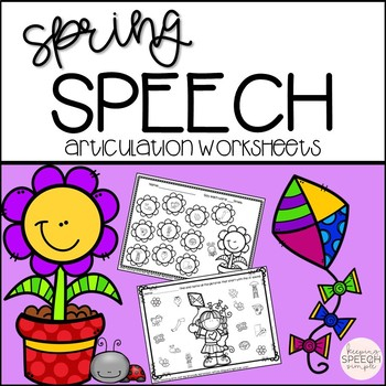 Spring Speech No Prep Articulation Worksheets