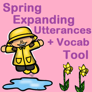 Spring Speech Present Progressive Expanding Utterances + Vocab Tool for MLU