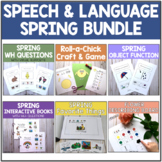 Spring Speech Therapy Activities BUNDLE - Lots of Visuals