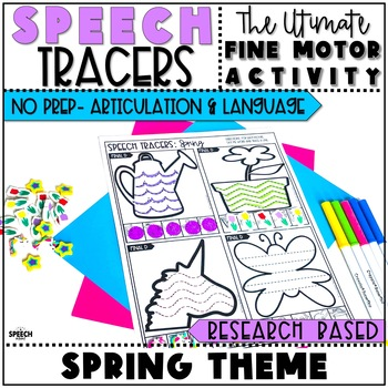 Spring Speech Therapy Activity: No Prep Language and Articulation Activity