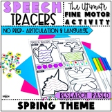 Spring Speech Therapy Activity: No Prep Language and Artic