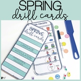 Spring Speech Therapy Drill Cards for Speech and Language