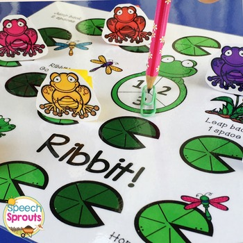 Ribbet! Frog and Pond Game with Final G Cards for Spring Speech Therapy