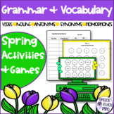 Spring Speech Therapy   Grammar and Vocabulary   Digital a