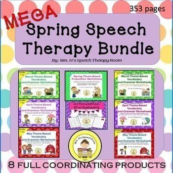 Spring Speech Therapy MEGA Bundle