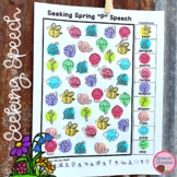 Spring Speech Therapy Seeking Activity {articulation}