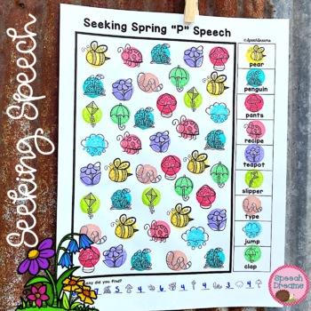 Spring Speech Therapy Seeking Activity {articulation}