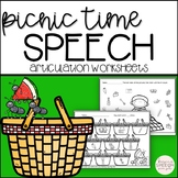 Spring Speech Therapy for Articulation - Picnic Themed