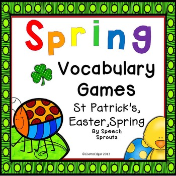 Spring Speech Vocabulary Games: St. Patrick's Day, Easter, Spring