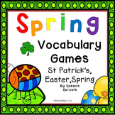 Spring Speech Therapy Games: St. Patrick's Day, Easter, Spring Vocabulary