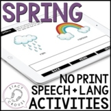 Spring Speech and Language Activities No Print Interactive