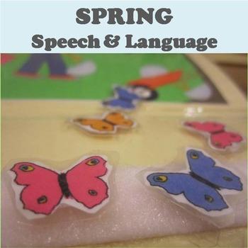 Spring Speech and Language Activity Set