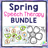Spring Speech and Language BUNDLE - Low/No Prep Spring Speech Activities