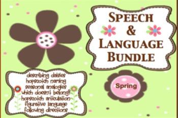 Spring Speech and Language Bundle