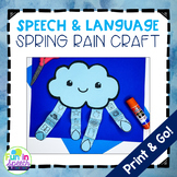 Spring Speech and Language Craft with a Rain Cloud Theme