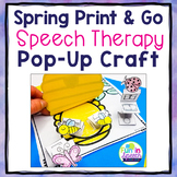Spring Speech and Language Craft Activity  |  Spring Speech Therapy