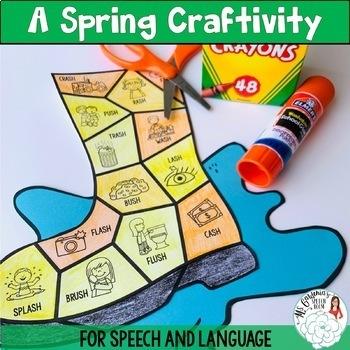 Spring Speech and Language Craftivity: Splash!