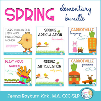 Spring ELEMENTARY Speech and Language Super Bundle