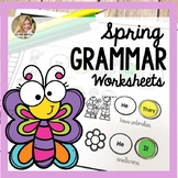 Spring Speech and Language Therapy | Grammar Worksheets Speech Therapy