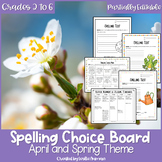 EDITABLE Spring Spelling Choice Board