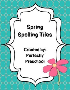Spring Spelling Letter Tiles