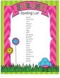 Spring Spelling List