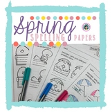 Spring Spelling Papers
