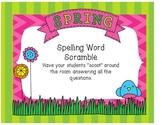 Spring Spelling Word Scramble