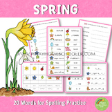 Spring Spelling Words Practice