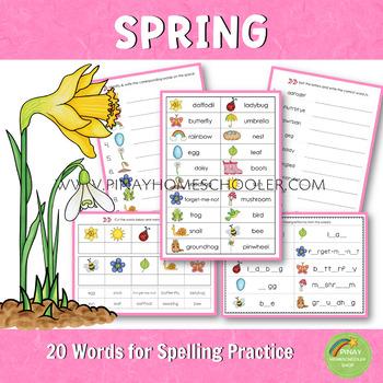 Spring Spelling Words Practice