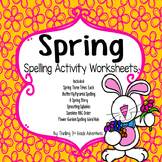 Spring Spelling Worksheets