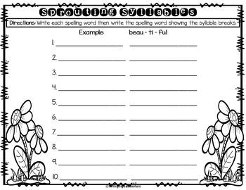 Spring Spelling Worksheets