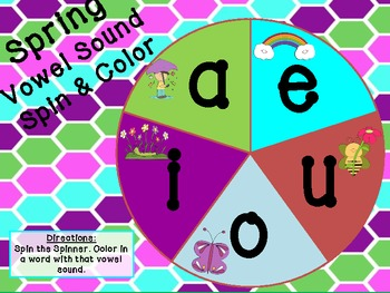 Spring Spin & Color Word Families CVC