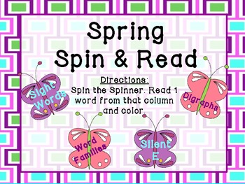 Spring Spin & Read (4 centers to differentiate)
