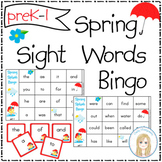 Spring Splash Sight Words Bingo - Set 1 : First 100 Words